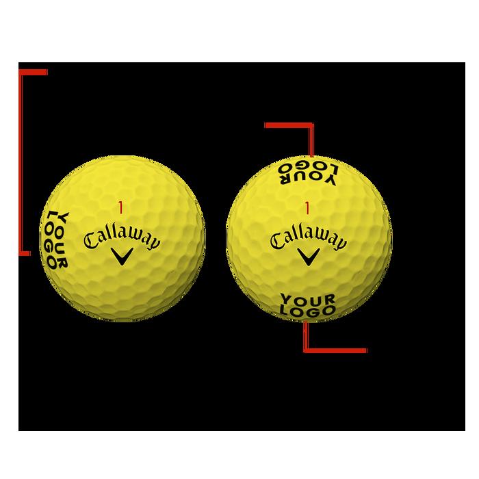 Supersoft Yellow Logo Golf Balls - View 3