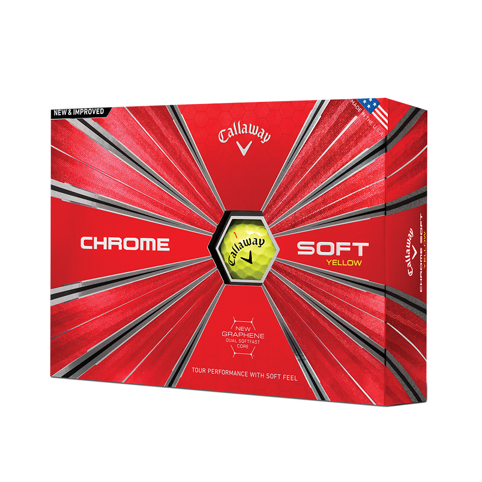 Chrome Soft Yellow Golf Balls - View 1