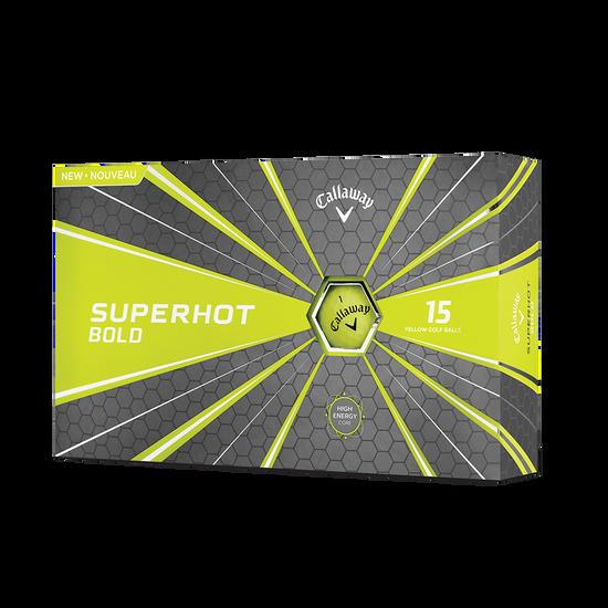Superhot Bold Matte Yellow 15-Pack Golf Balls