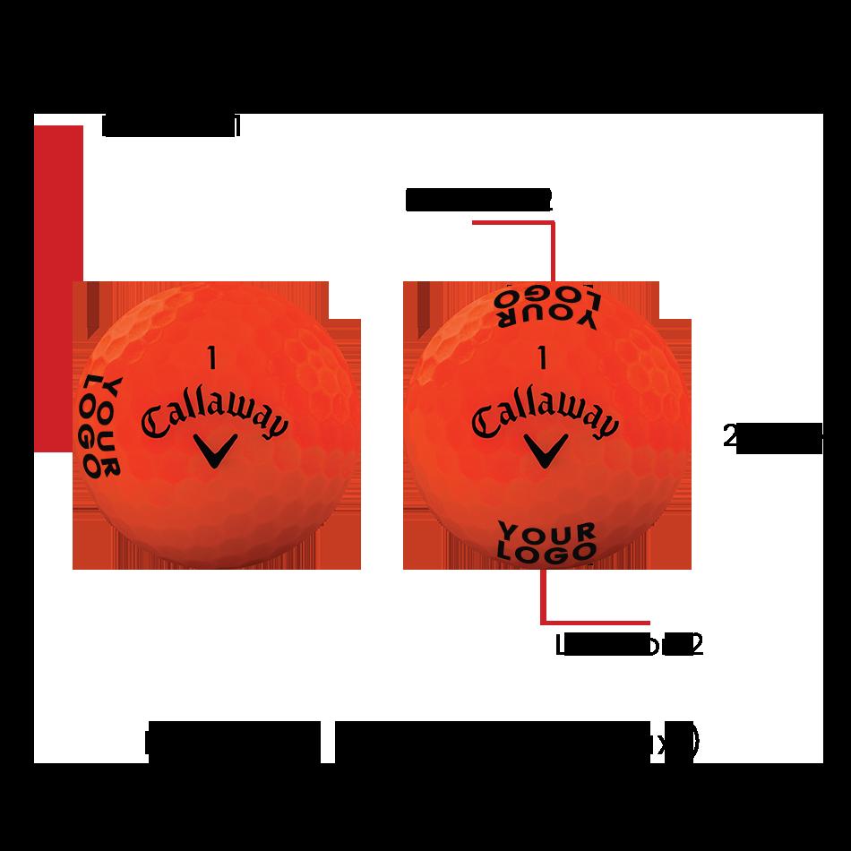 Superhot Bold 15-Pack Orange Logo Golf Balls - View 3