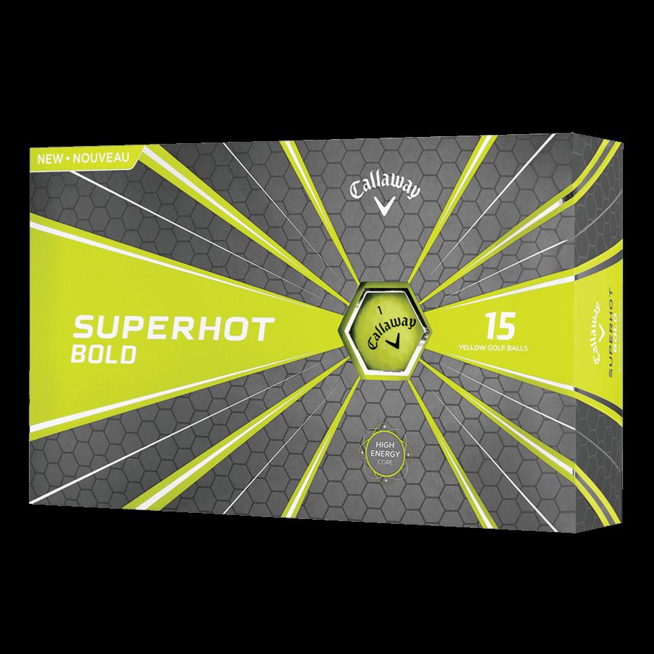 Superhot Bold 15-Pack Yellow Logo Golf Balls - View 1