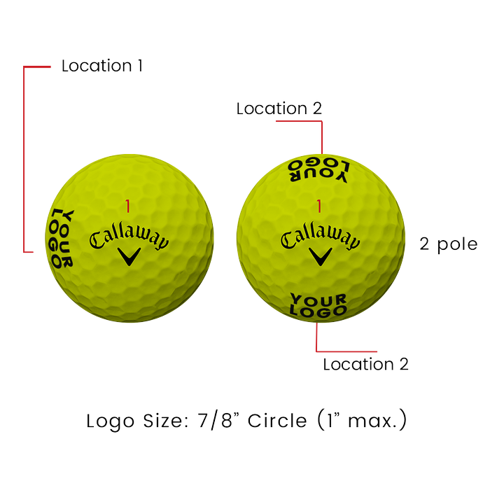Supersoft Magna Yellow Logo Golf Balls - View 3