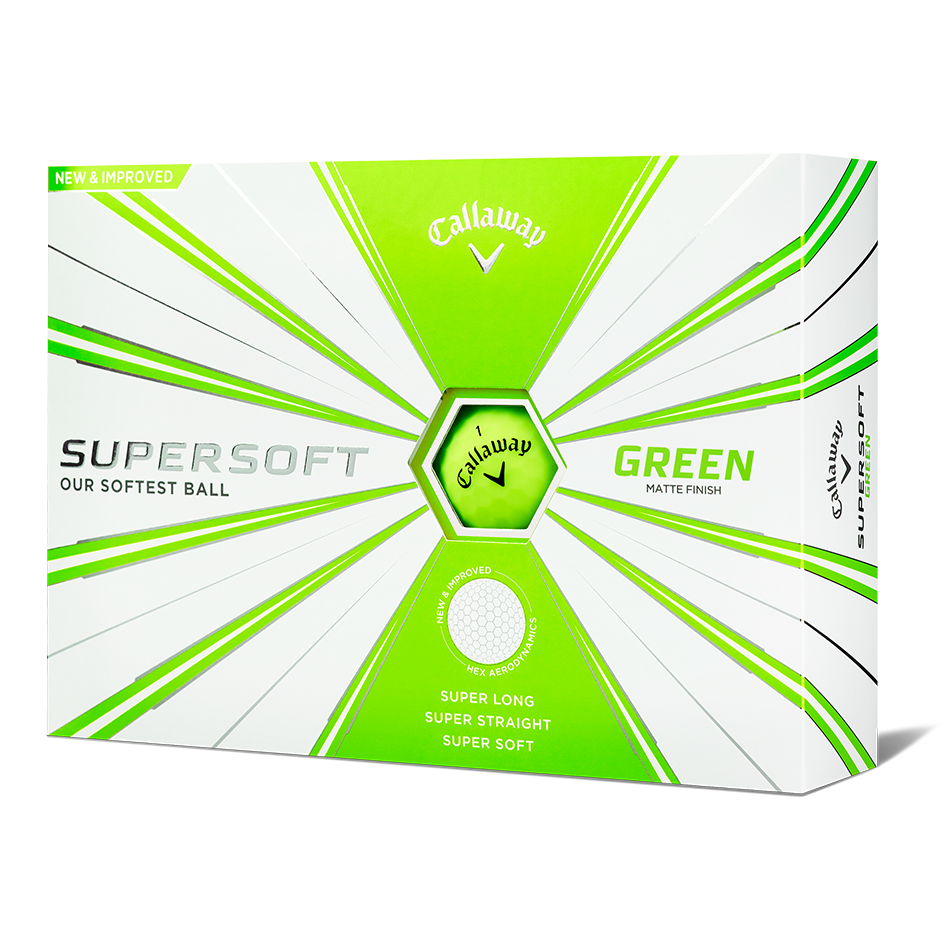 Supersoft Matte Green Logo Golf Balls - View 1