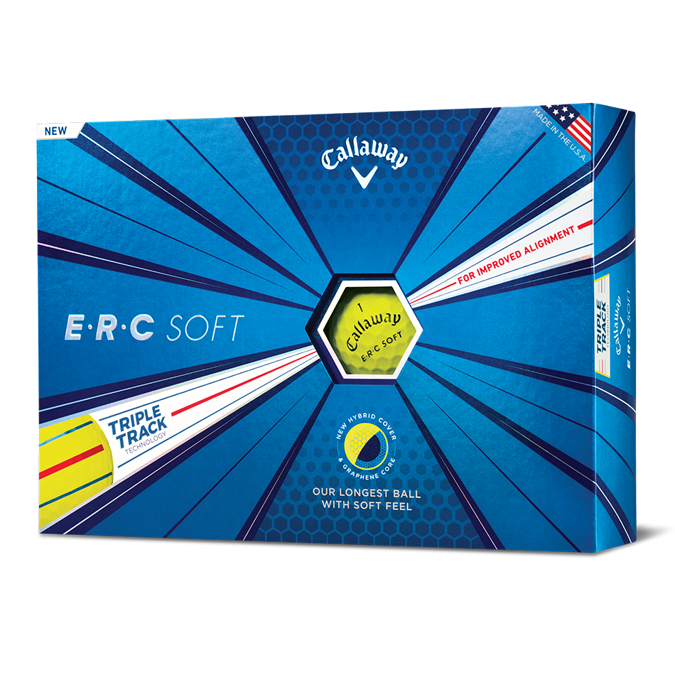 ERC Soft Yellow Logo Golf Balls - View 1