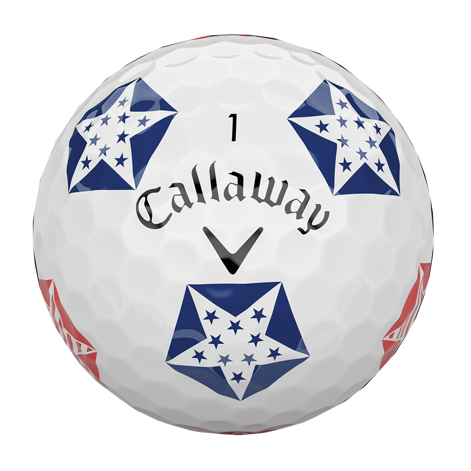 Chrome Soft Truvis Stars and Stripes Golf Balls - View 3