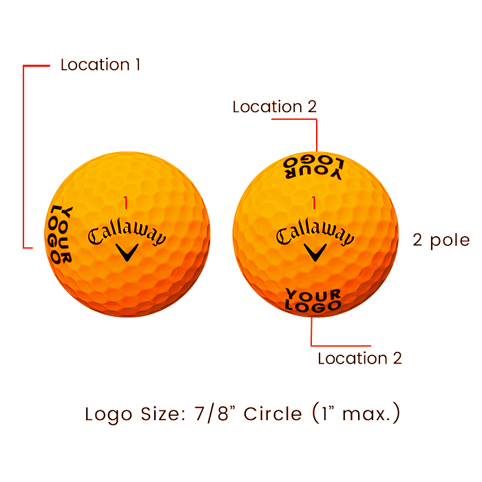 Supersoft Matte Orange Logo Golf Balls - View 3