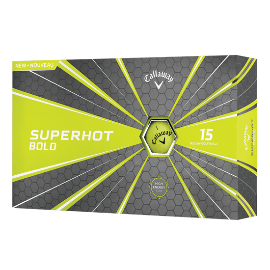 Superhot Bold 15-Pack Yellow Logo Golf Balls