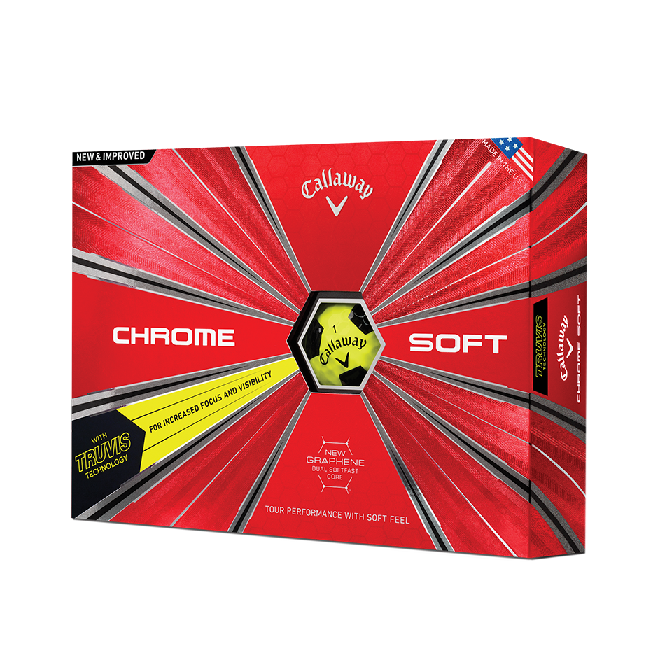 Chrome Soft Truvis Yellow Golf Balls - Featured