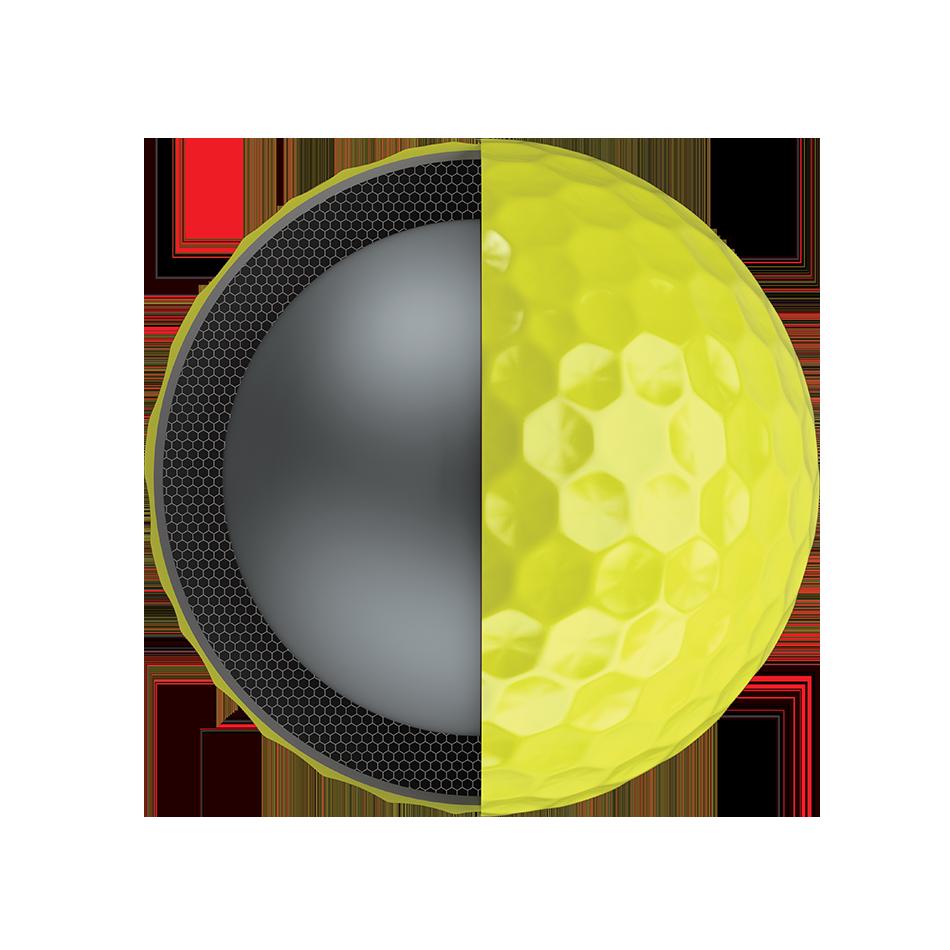 Chrome Soft X Yellow Logo Golf Balls - View 3