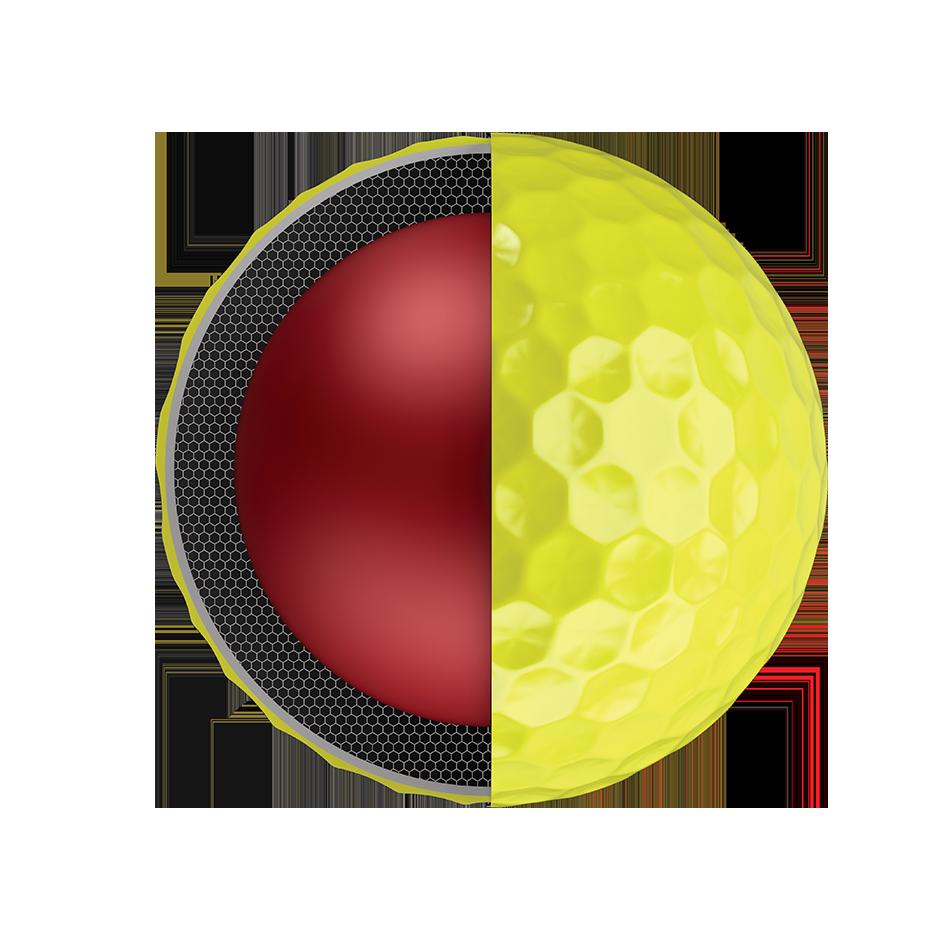 Chrome Soft Yellow Logo Golf Balls - View 3