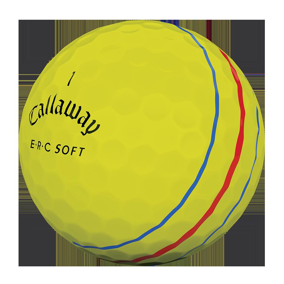 ERC Soft Yellow Logo Golf Balls - View 3