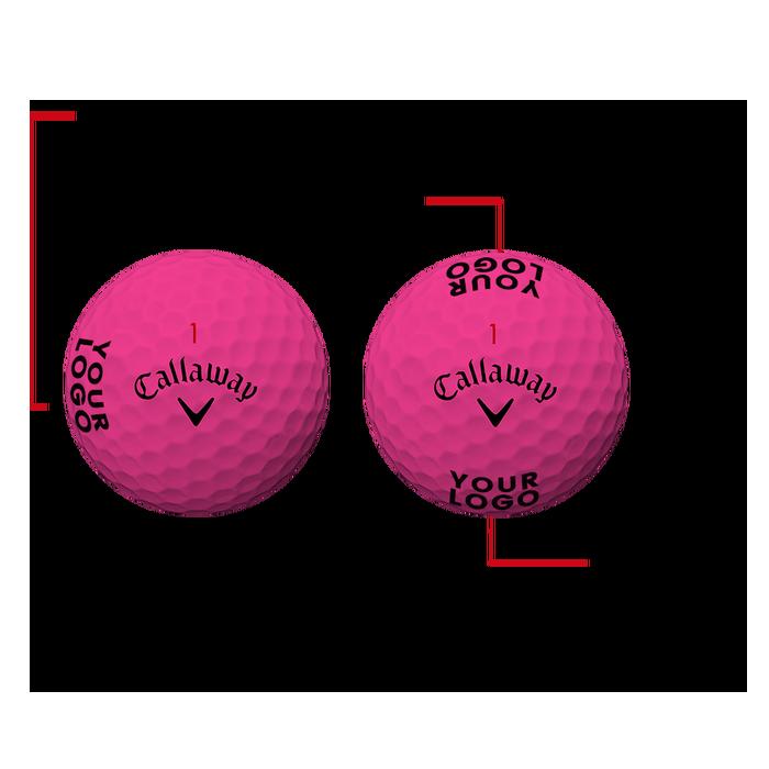 Supersoft Matte Pink Logo Golf Balls - View 3