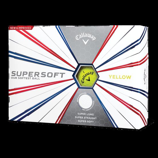 Supersoft Yellow Logo Golf Balls
