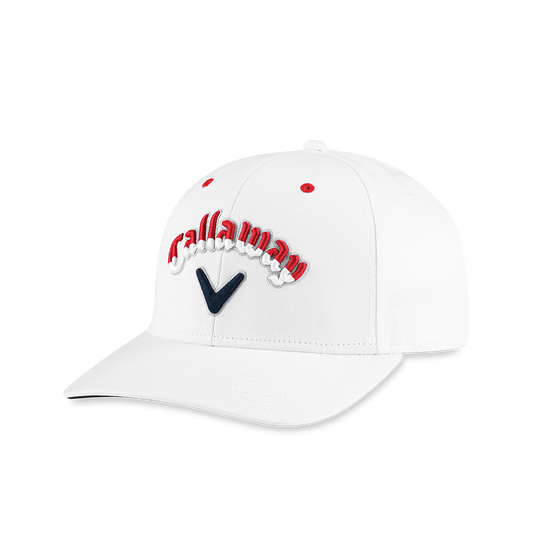 Stars & Stripes Script High Crown Hat