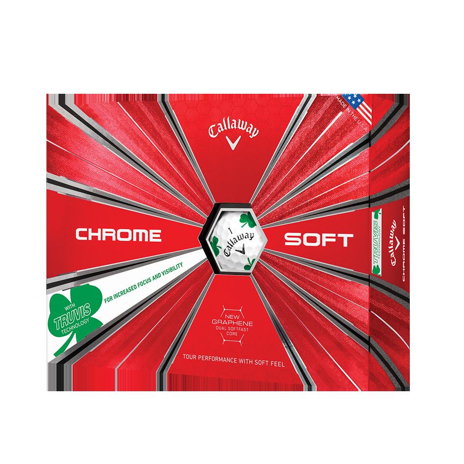 Chrome Soft Shamrock Truvis Golf Balls - Featured
