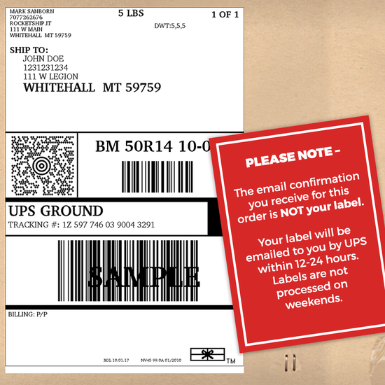 Product Return Shipping Label