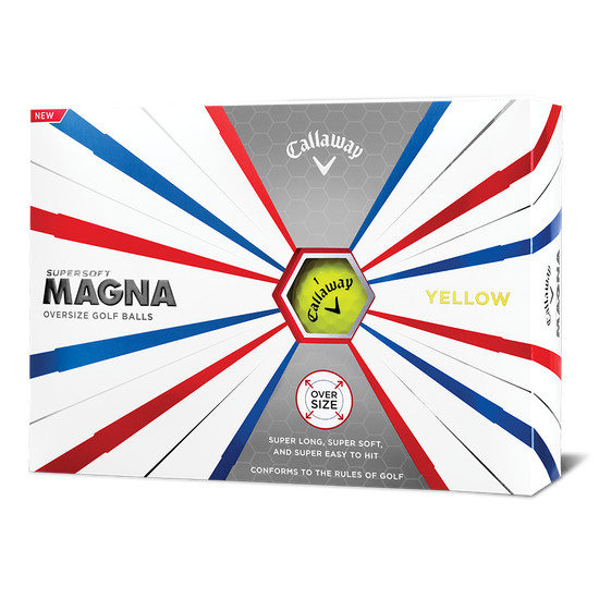 Supersoft Magna Yellow Logo Golf Balls