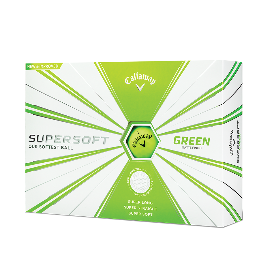 Callaway Supersoft Matte Green Golf Balls - Featured