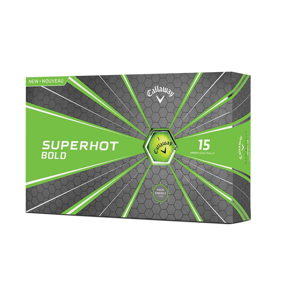 2018 Superhot Bold Matte Green 15-Pack Golf Balls - Featured