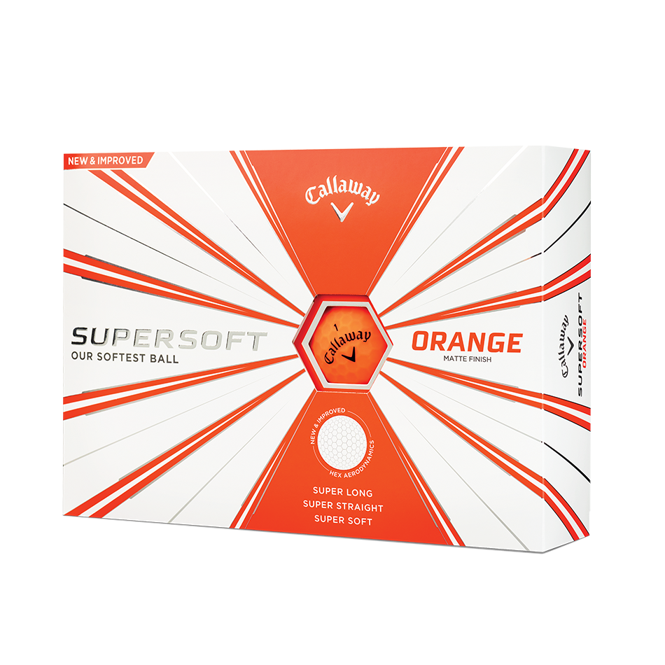 Callaway Supersoft Matte Orange Golf Balls - Featured