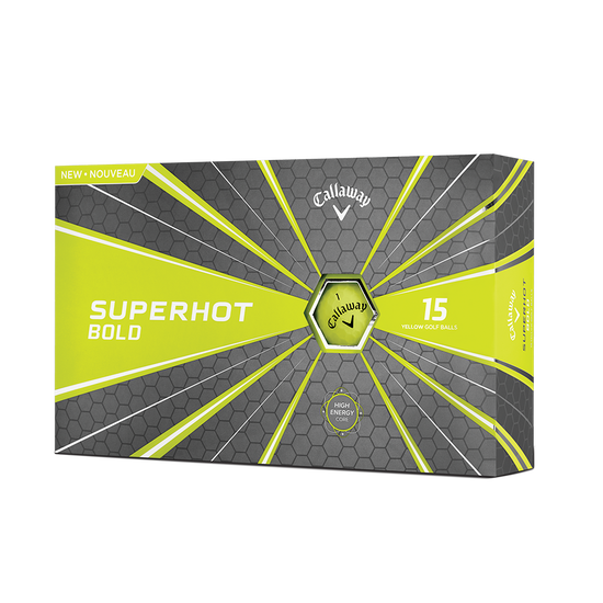 2018 Superhot Bold Matte Yellow 15-Pack Golf Balls
