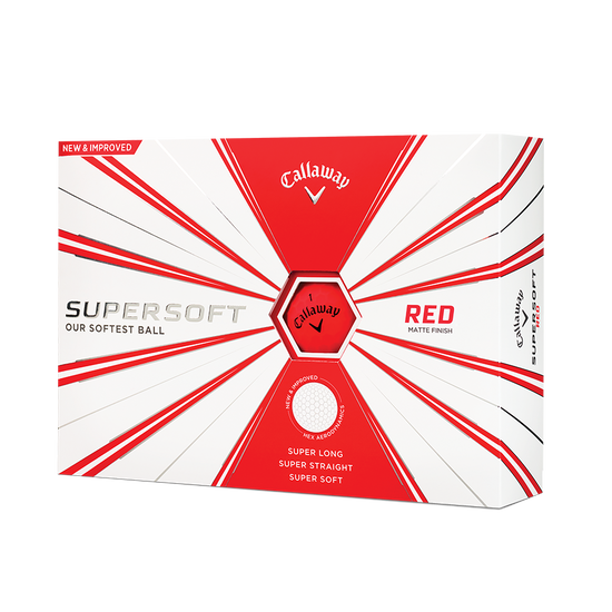 Callaway Supersoft Matte Red Golf Balls