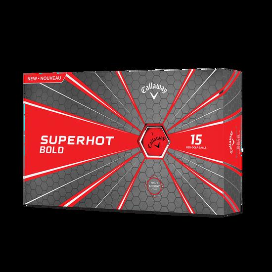 2018 Superhot Bold Matte Red 15-Pack Golf Balls