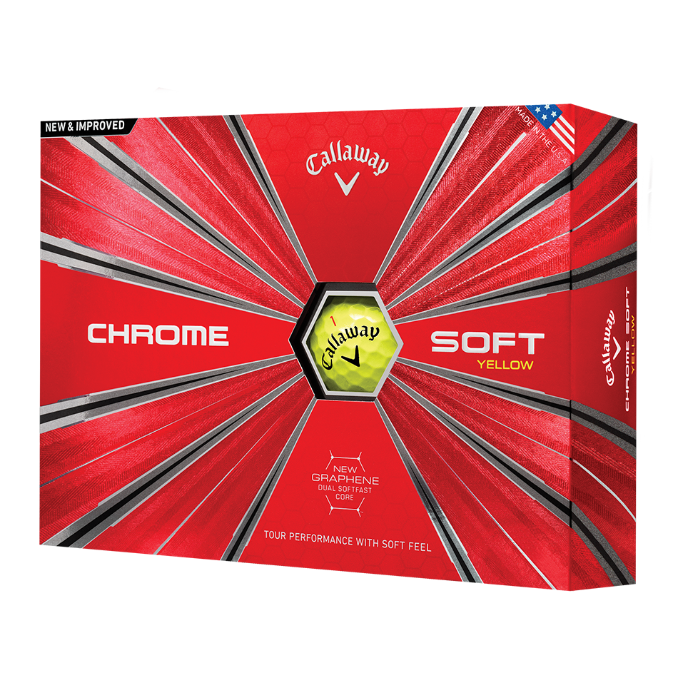 Chrome Soft Yellow Logo Golf Balls - Featured