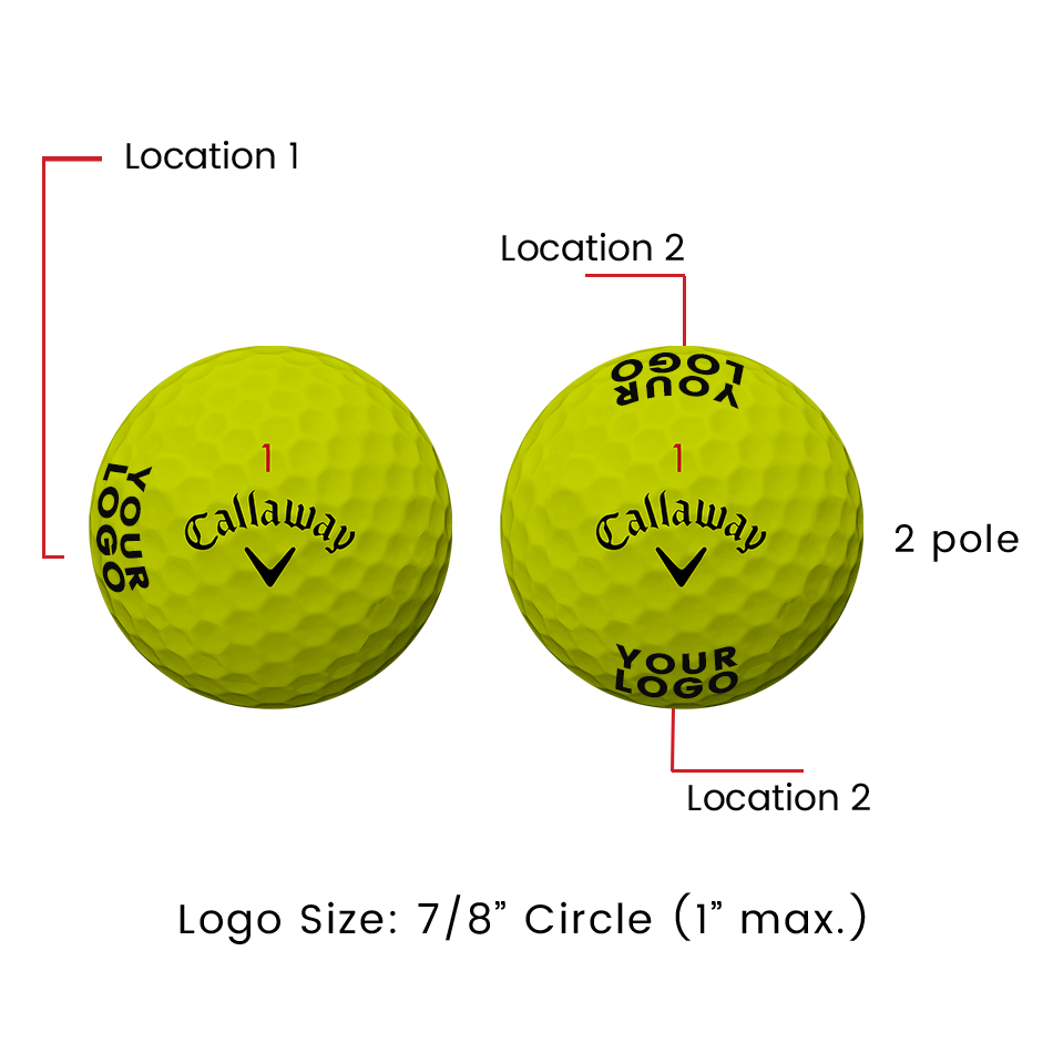 Chrome Soft Yellow Logo Golf Balls - View 2