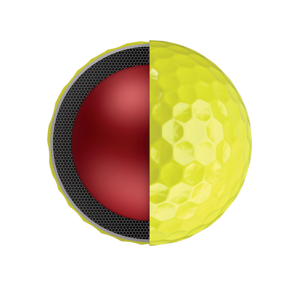 Chrome Soft Yellow Logo Golf Balls - View 3