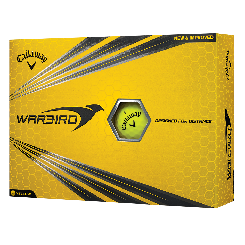 Warbird Yellow Logo Golf Balls - Featured