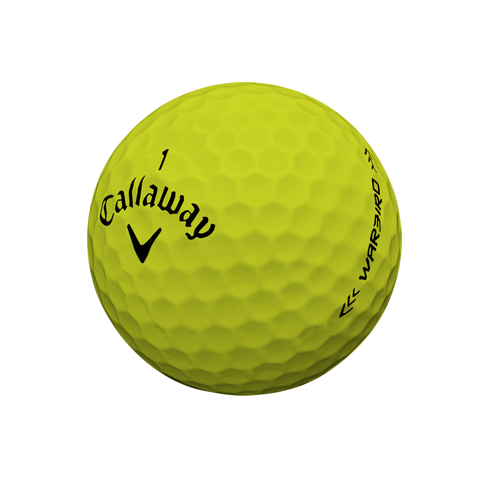 Warbird Yellow Logo Golf Balls - View 3