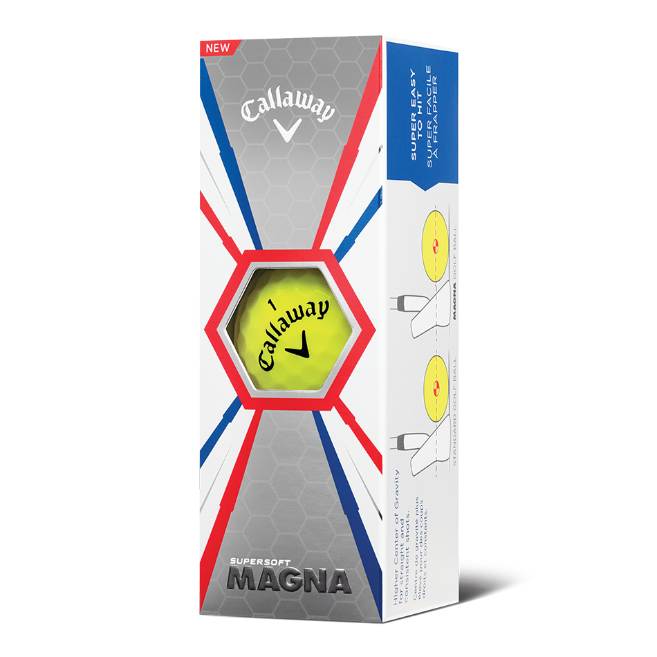 Supersoft Magna Yellow Logo Golf Balls - View 2