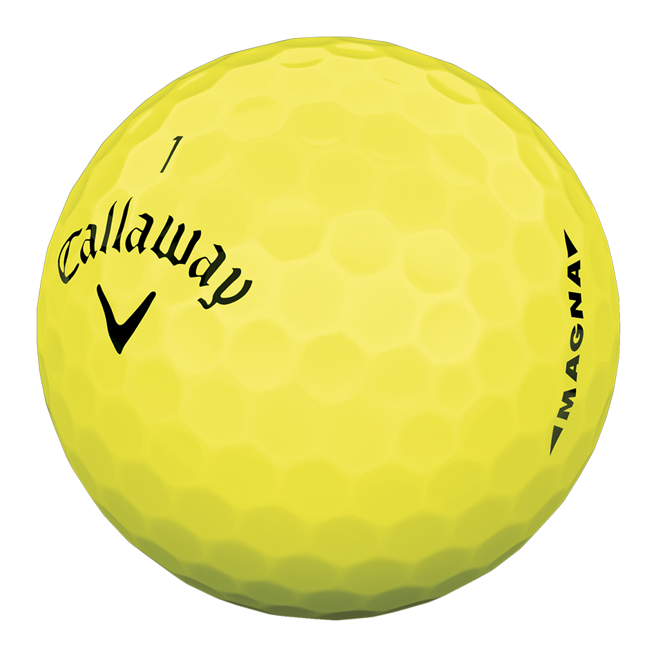 Supersoft Magna Yellow Logo Golf Balls - View 4