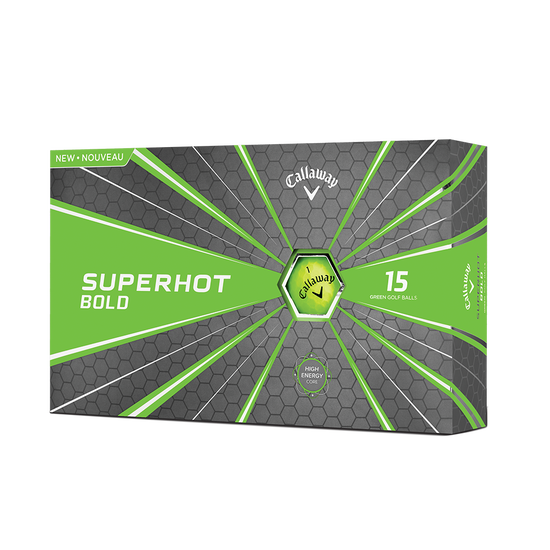 2018 Superhot Bold Matte Green 15-Pack Golf Balls