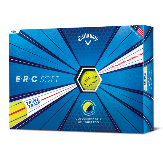 ERC Soft Yellow Logo Golf Balls