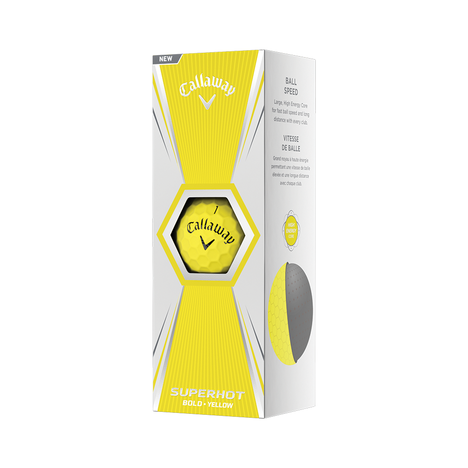 Superhot Bold Matte Yellow 15-Pack Golf Balls - View 2