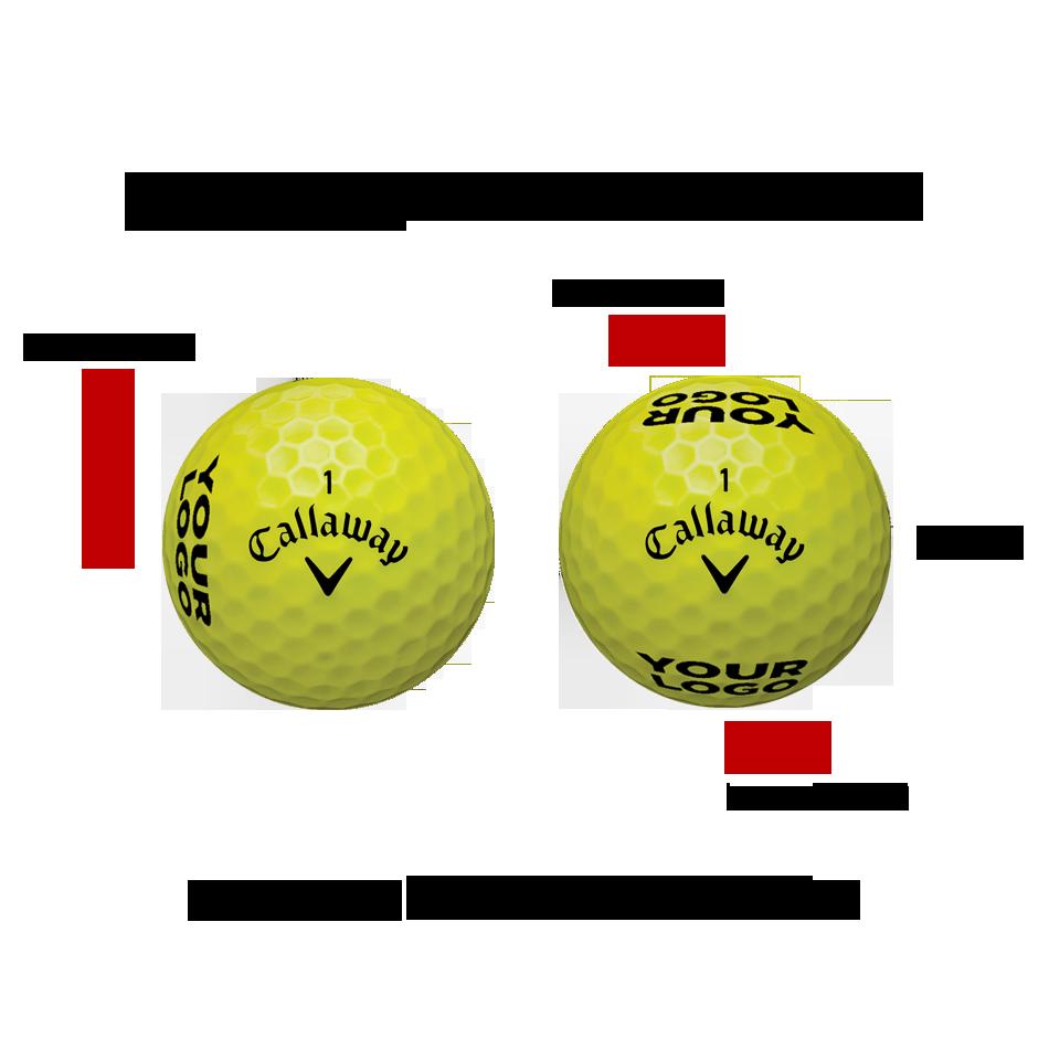 Warbird Yellow Logo Golf Balls - View 2