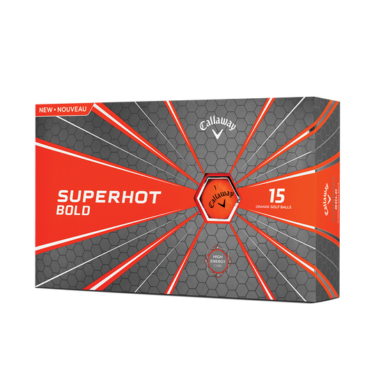 2018 Superhot Bold Matte Orange 15-Pack Golf Balls