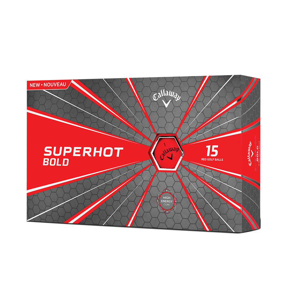 2018 Superhot Bold Matte Red 15-Pack Golf Balls - Featured
