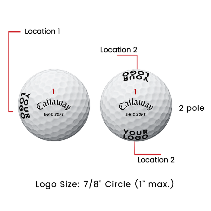 ERC Soft Logo Golf Balls - View 2