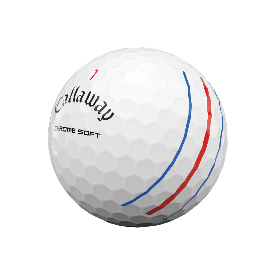 Chrome Soft Triple Track Logo Golf Balls - View 4