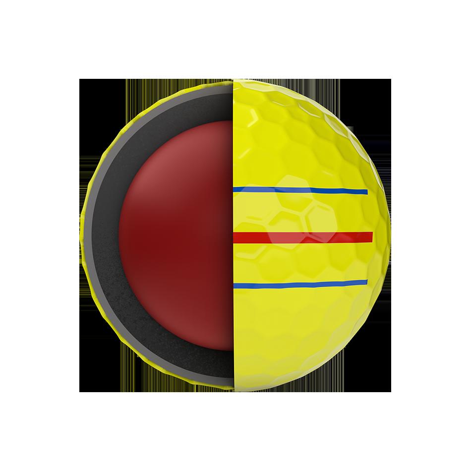 Chrome Soft Yellow Triple Track Logo Golf Balls - View 5