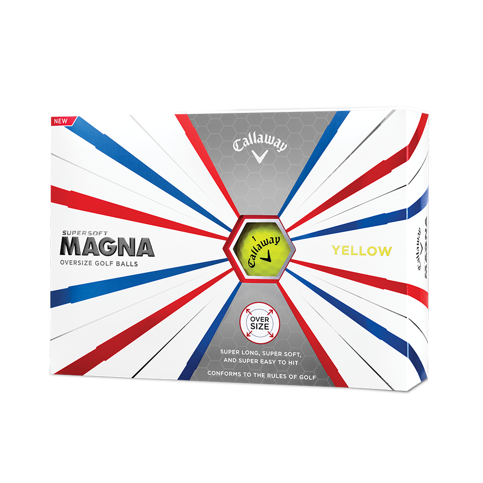 Callaway Supersoft Magna Yellow Golf Balls