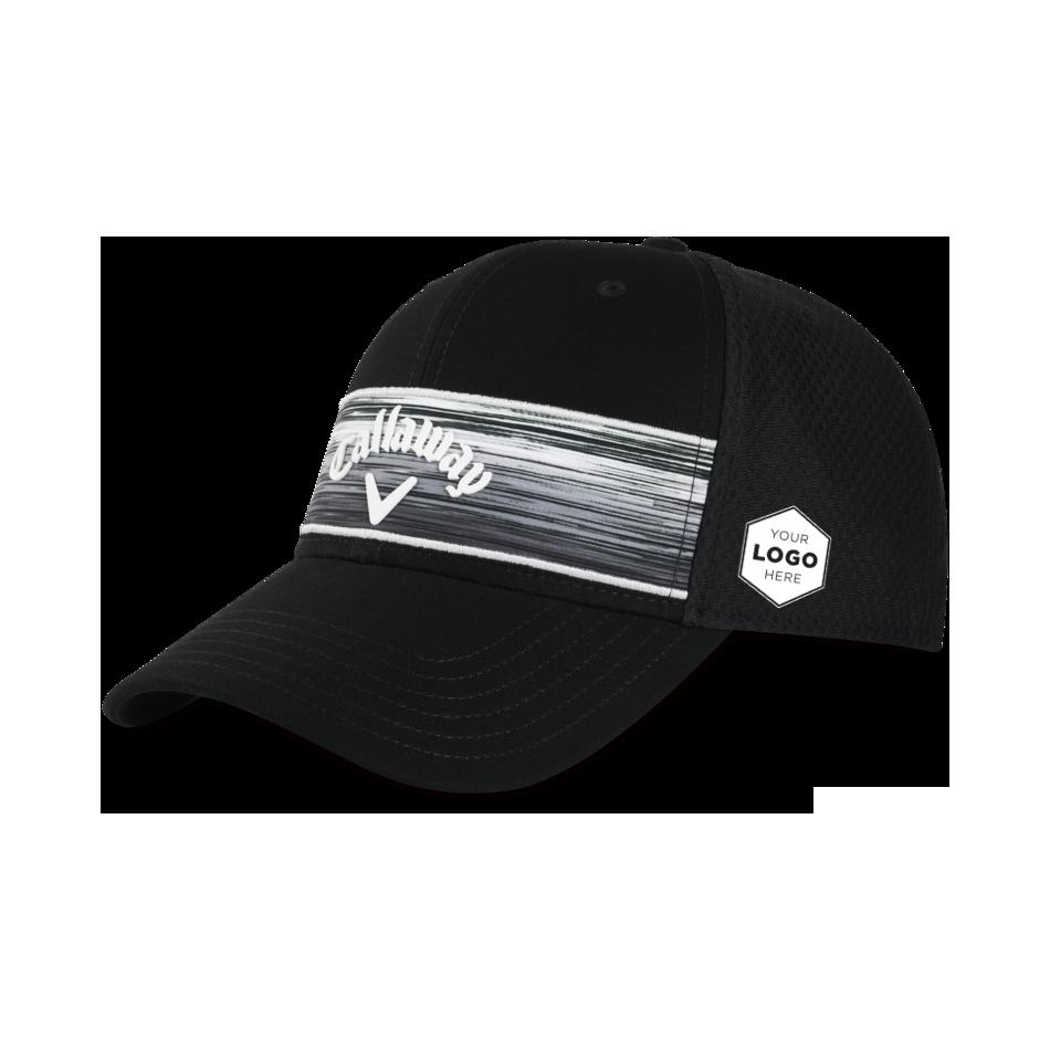 Stripe Mesh Logo Cap