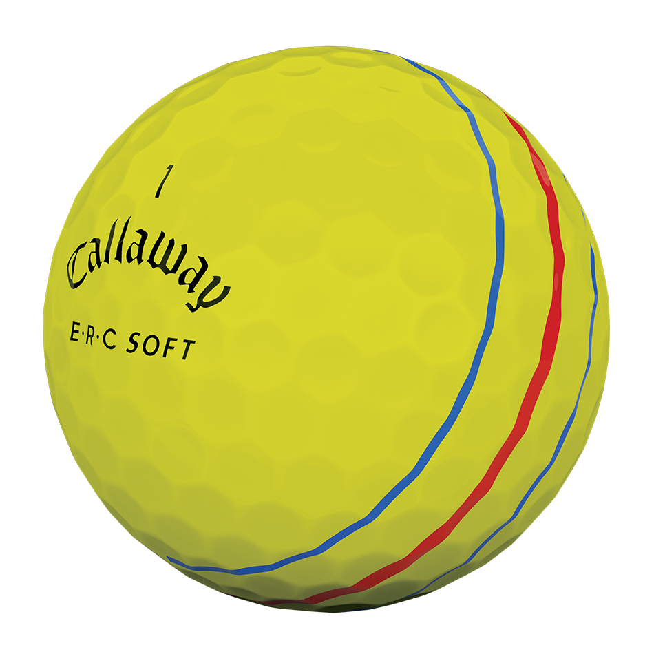 ERC Soft Yellow Logo Golf Balls - View 3