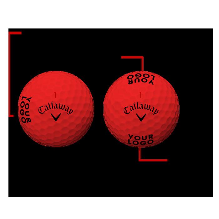 Supersoft Matte Red Logo Golf Balls - View 3