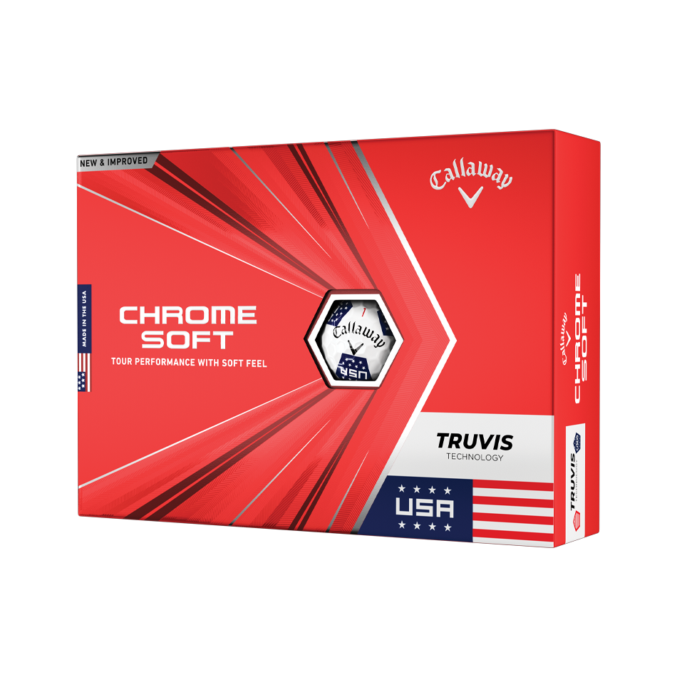 Limited Edition Chrome Soft Truvis USA Golf Balls - Featured