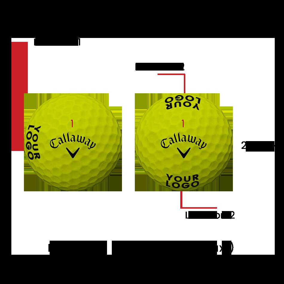 Superhot Bold Yellow 15-Pack Logo Golf Balls - View 2