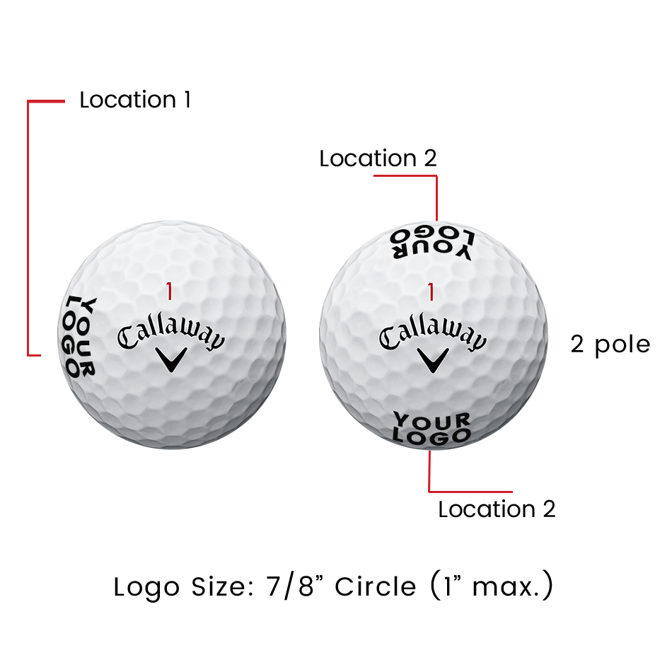 Chrome Soft X Triple Track Logo Golf Balls - View 2